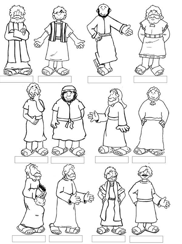 Jesus Calling His Disciples Coloring Pages at GetDrawings