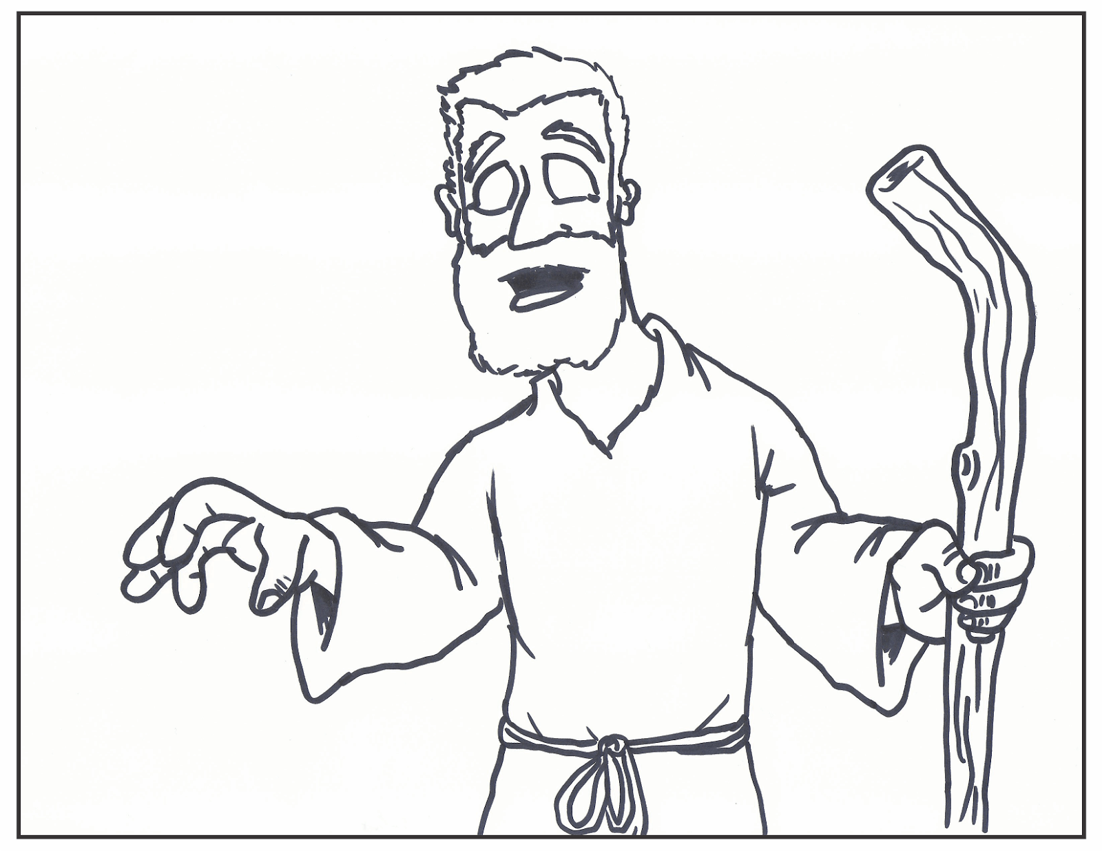 Jesus Heals The Blind Man Coloring Page at GetDrawings