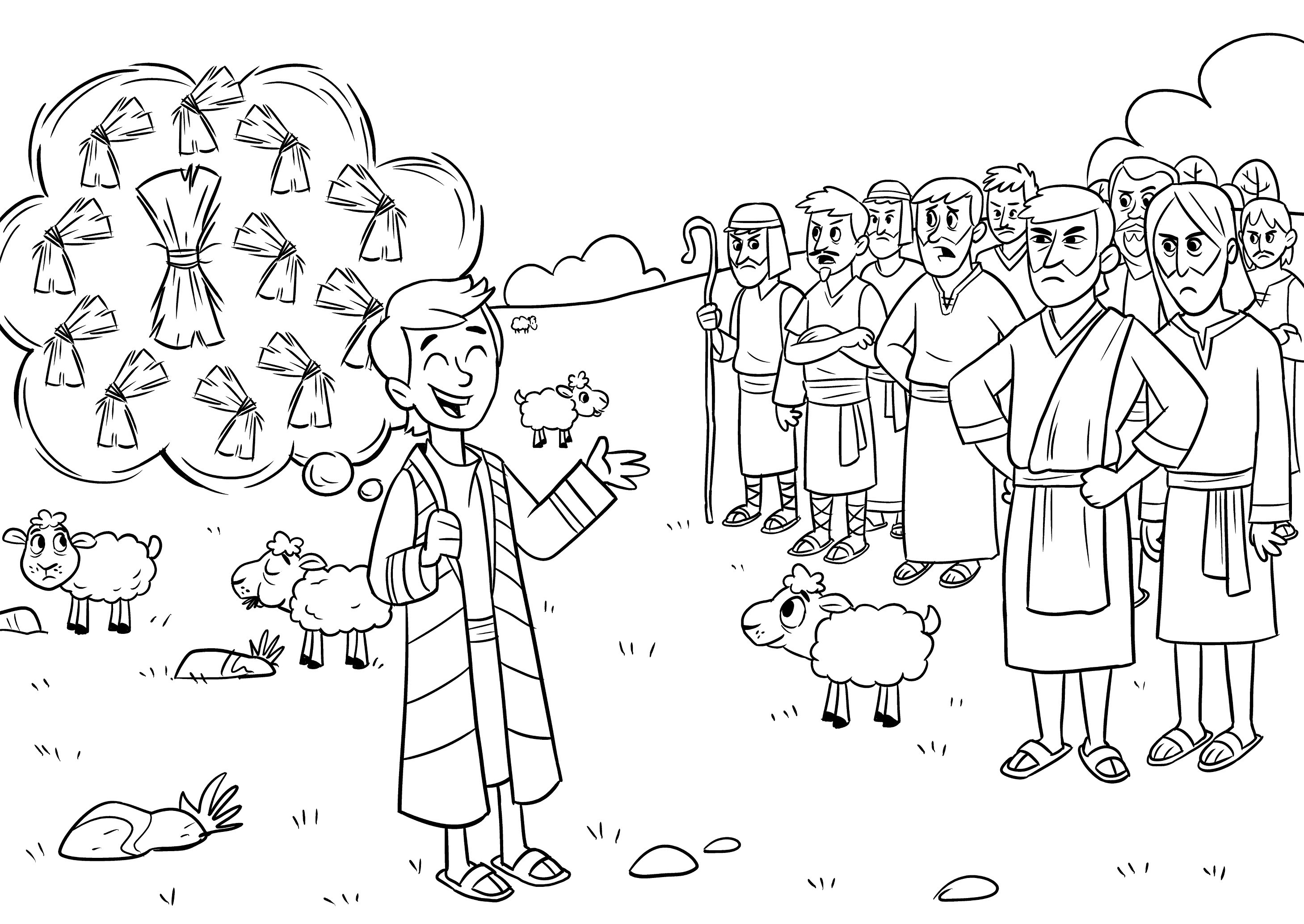 Joseph Son Of Jacob Coloring Pages At Getdrawings