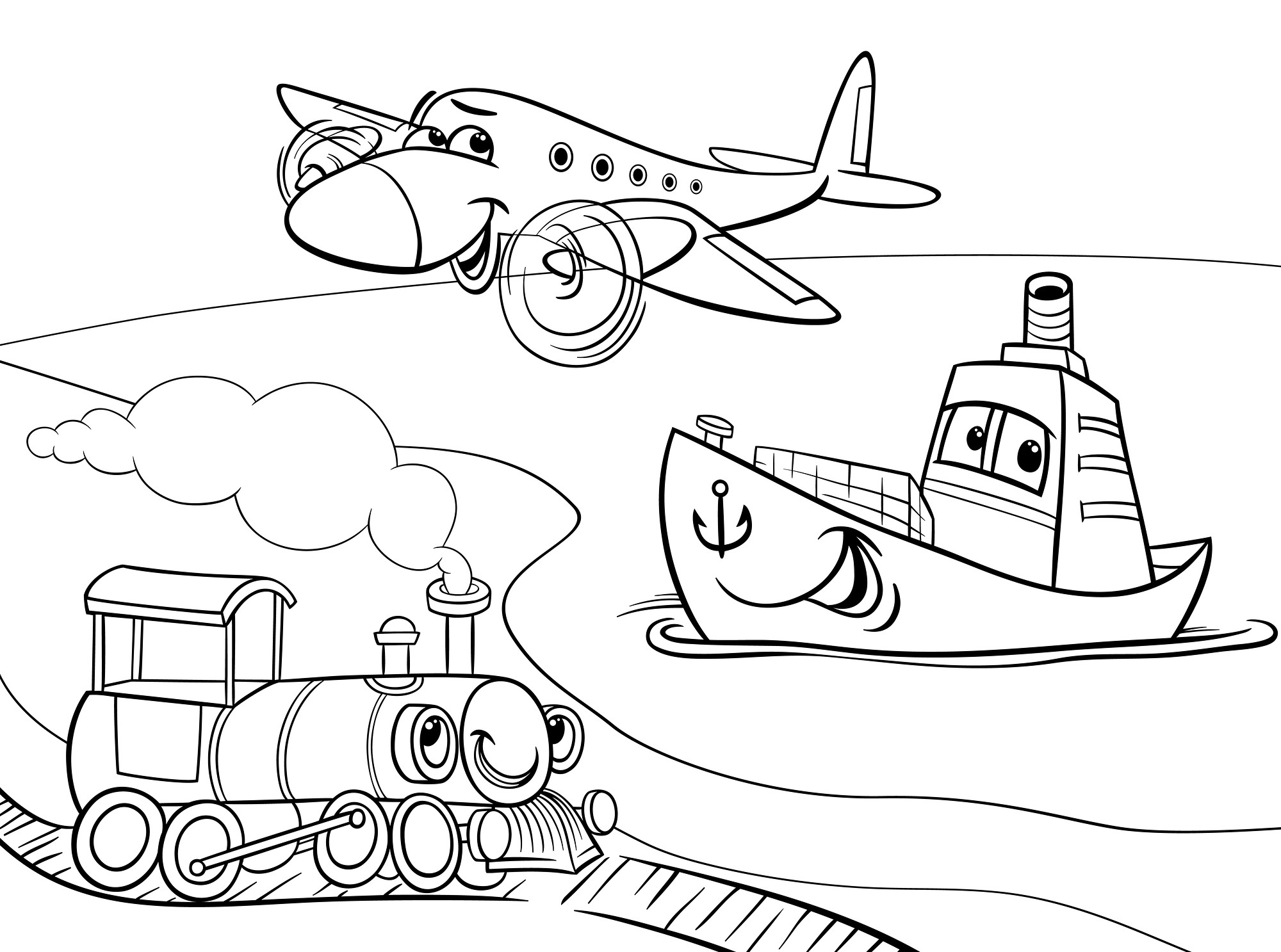 Land Transportation Coloring Pages At Getdrawings