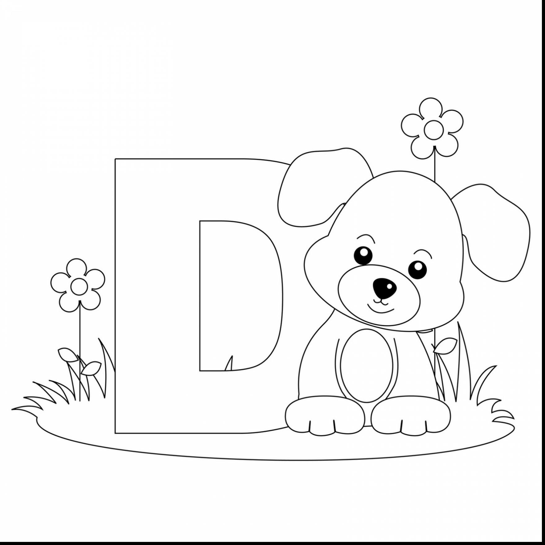 Letter D Coloring Pages Preschool At Getdrawings
