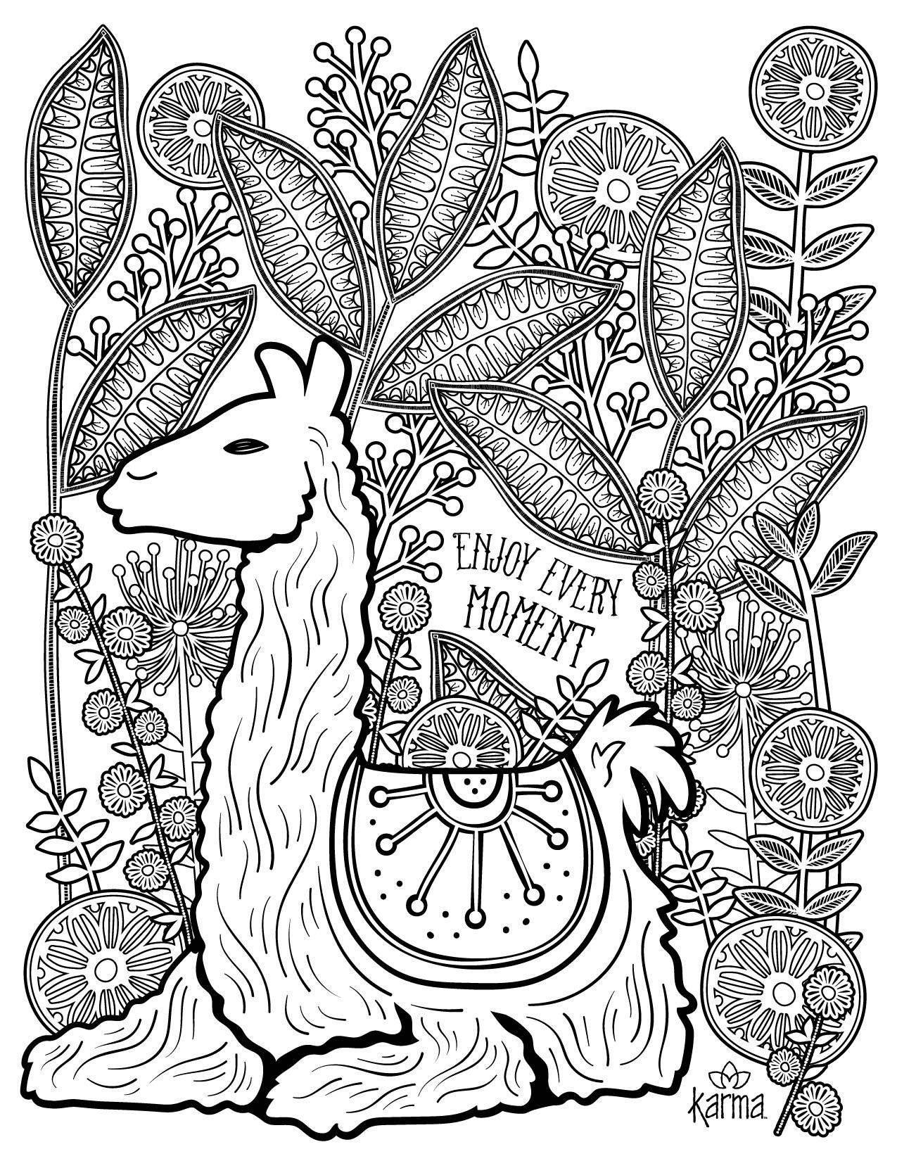 Llamacorn Coloring Pages At Getdrawings