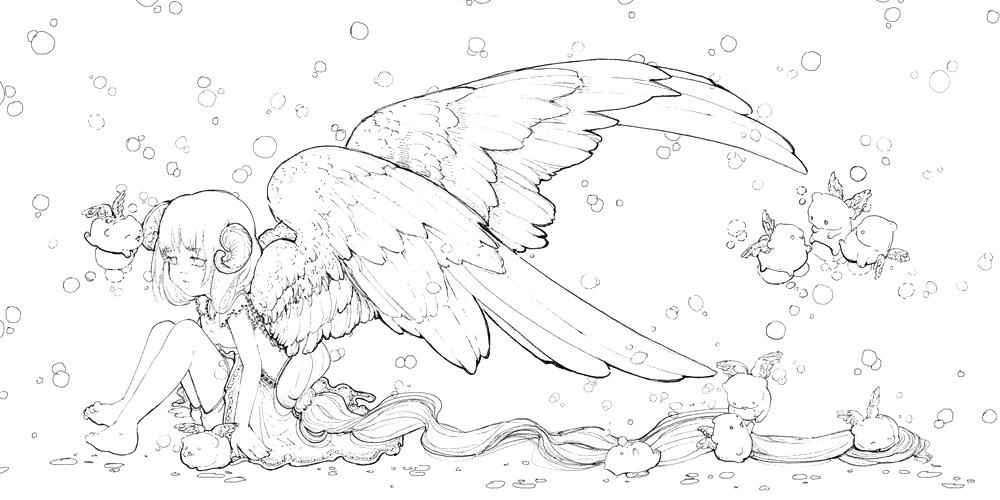 Manga Coloring Pages For Adults At Getdrawings Free Download