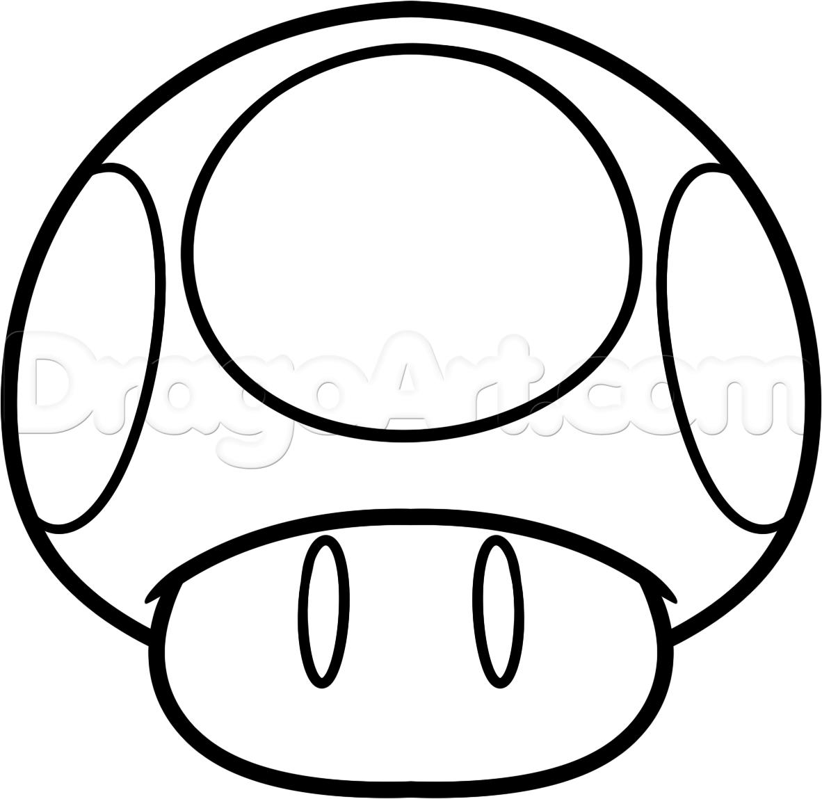 Mario Mushroom Coloring Page At Getdrawings