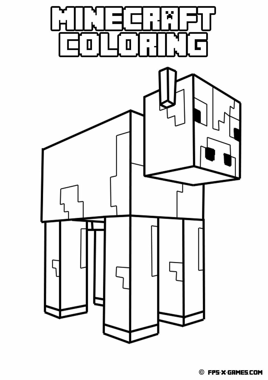 hight resolution of minecraft pickaxe coloring pages