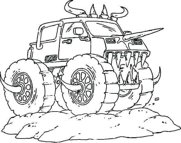 Bilder Zum Ausmalen Monster Truck - Malvorlagen