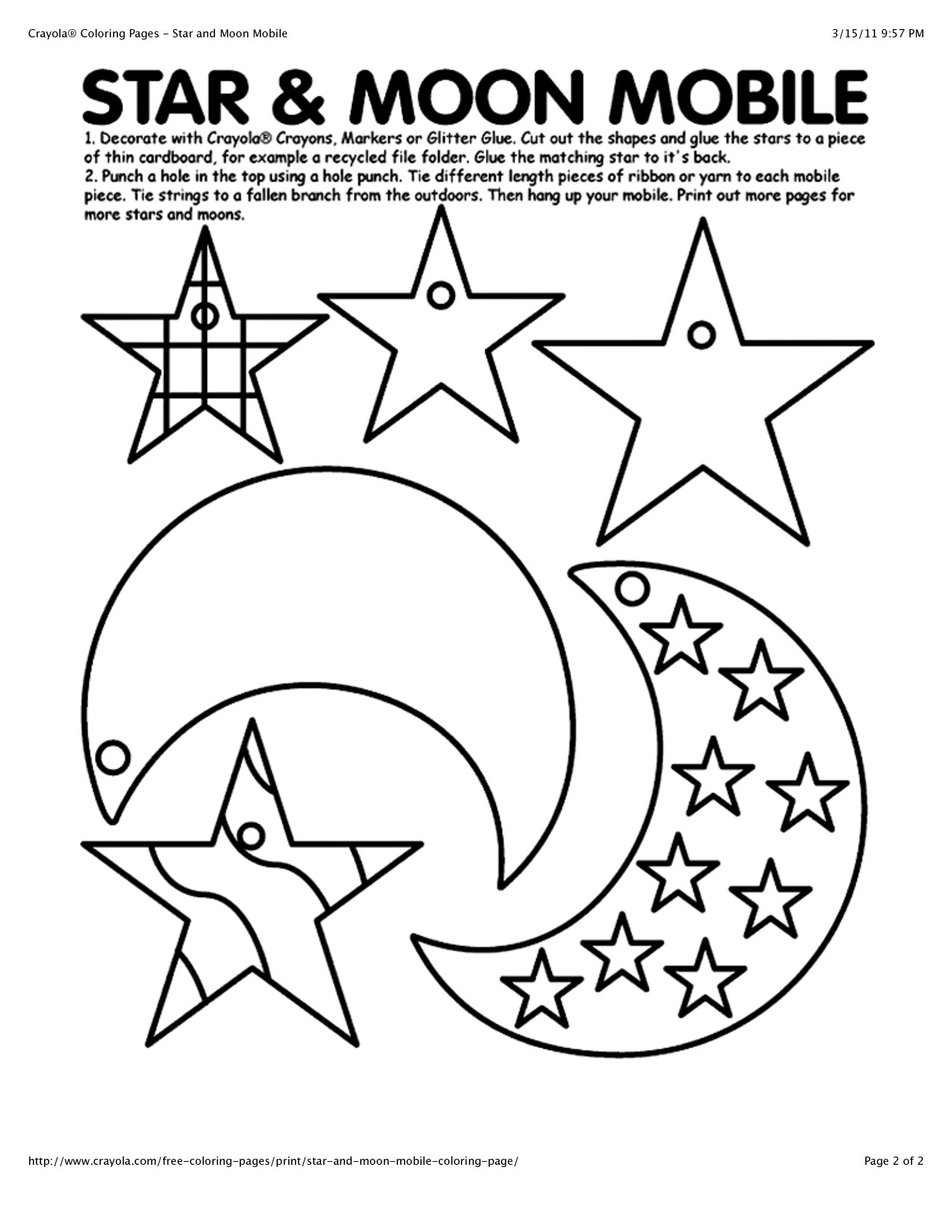 Moon And Stars Coloring Pages At Getdrawings
