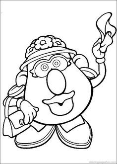 mr potato head coloring pages # 47