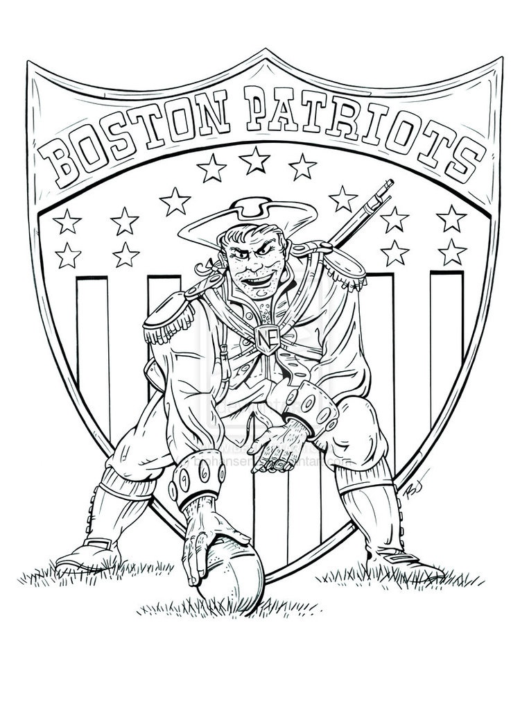 new england patriots logo coloring pages at getdrawings