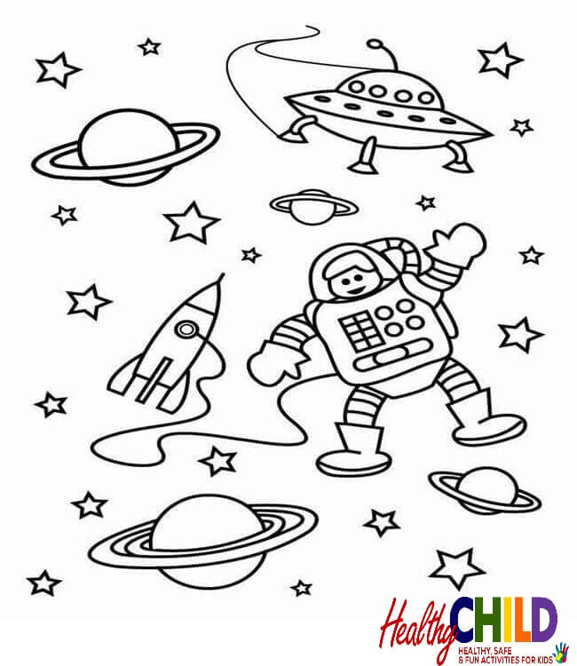 Outer Space Coloring Pages For Preschoolers at GetDrawings