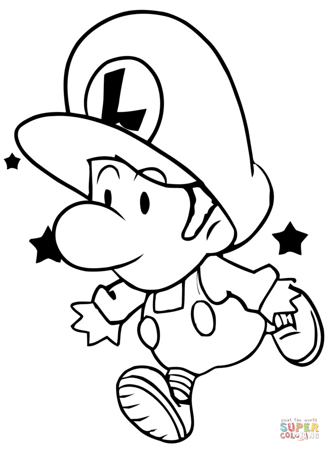 paper mario coloring pages at getdrawings  free download
