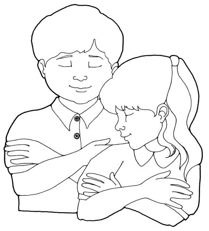 The best free Praying hands coloring page images. Download