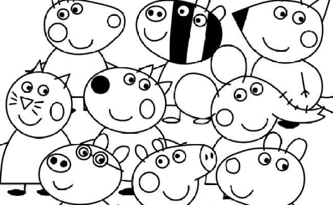 Peppa Pig And Friends Coloring Pages At Getdrawings Free Cute766