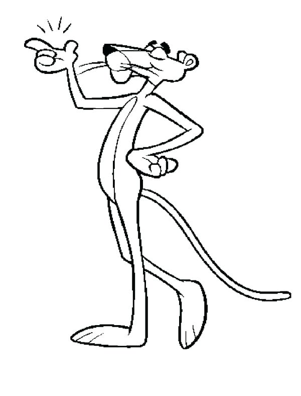 pink panther coloring pages # 28
