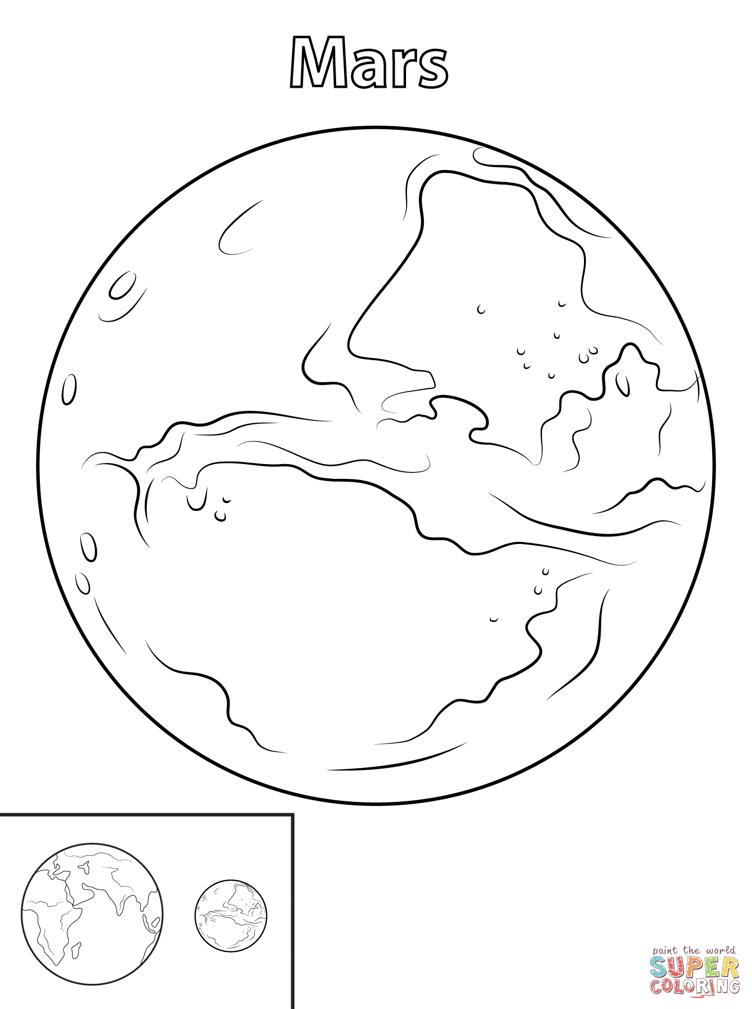 Planet Mars Coloring Pages At Getdrawings