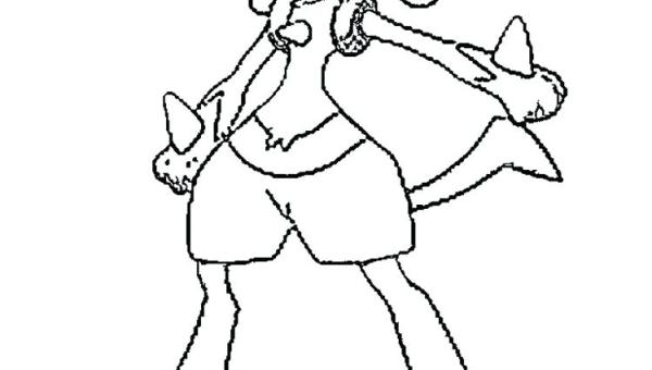 pokemon coloring pages lucario # 31
