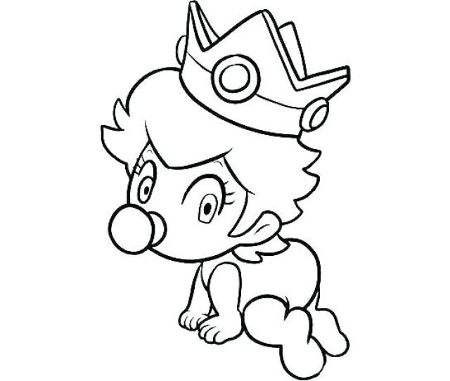 Princes Peach Coloring Pages At Getdrawings Free Download