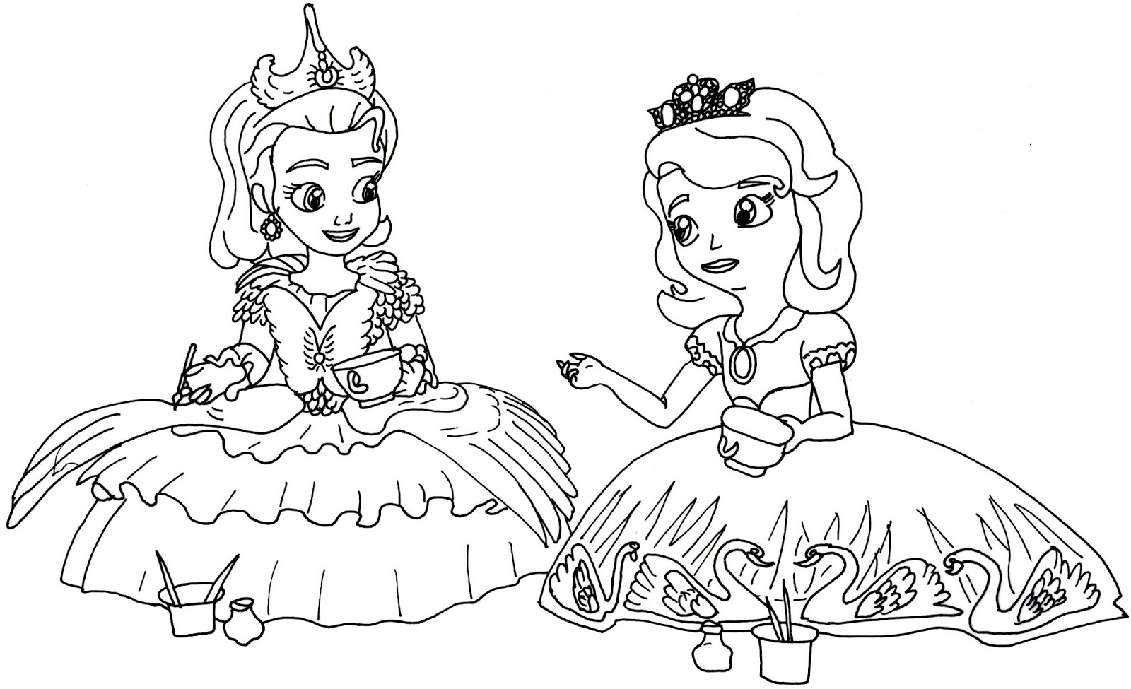 Princess Sofia Coloring Pages At Getdrawings