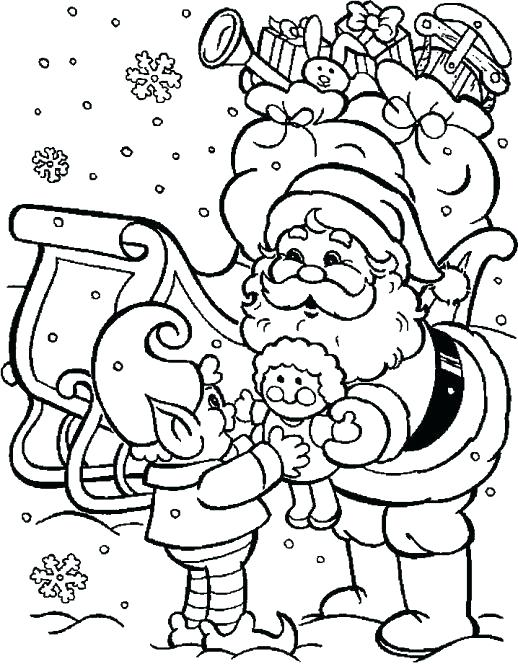 christmas elf coloring pages # 72