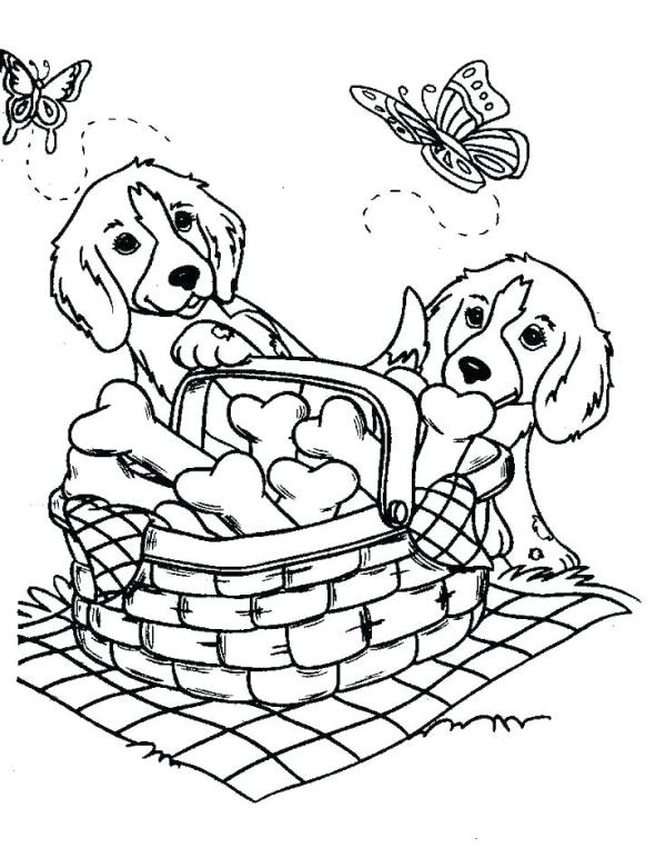 printable puppy coloring pages # 35