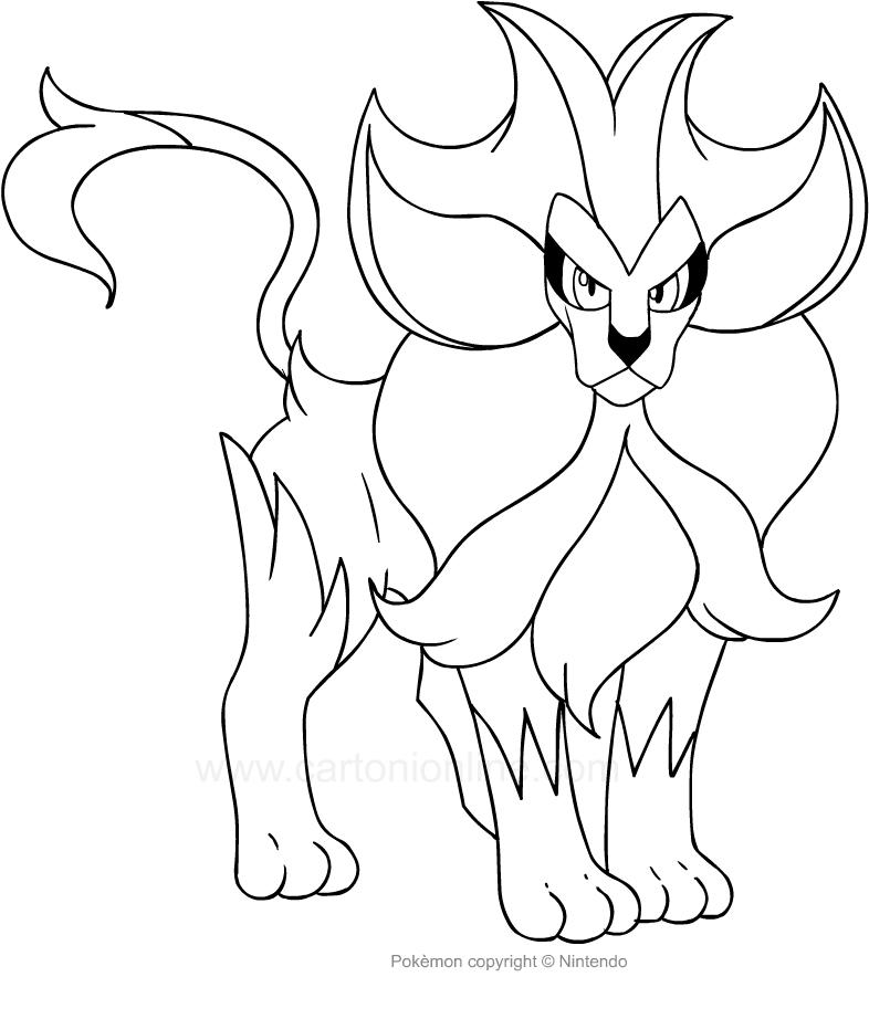 Pyror Pokemon Kleurplaat