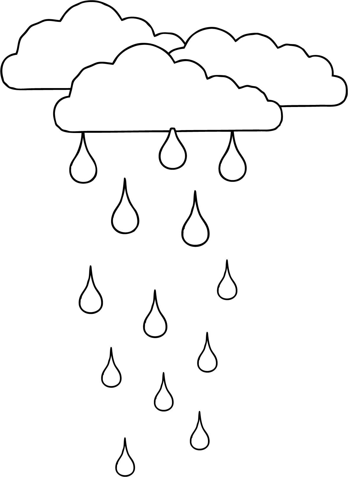 Rain Cloud Coloring Page At Getdrawings
