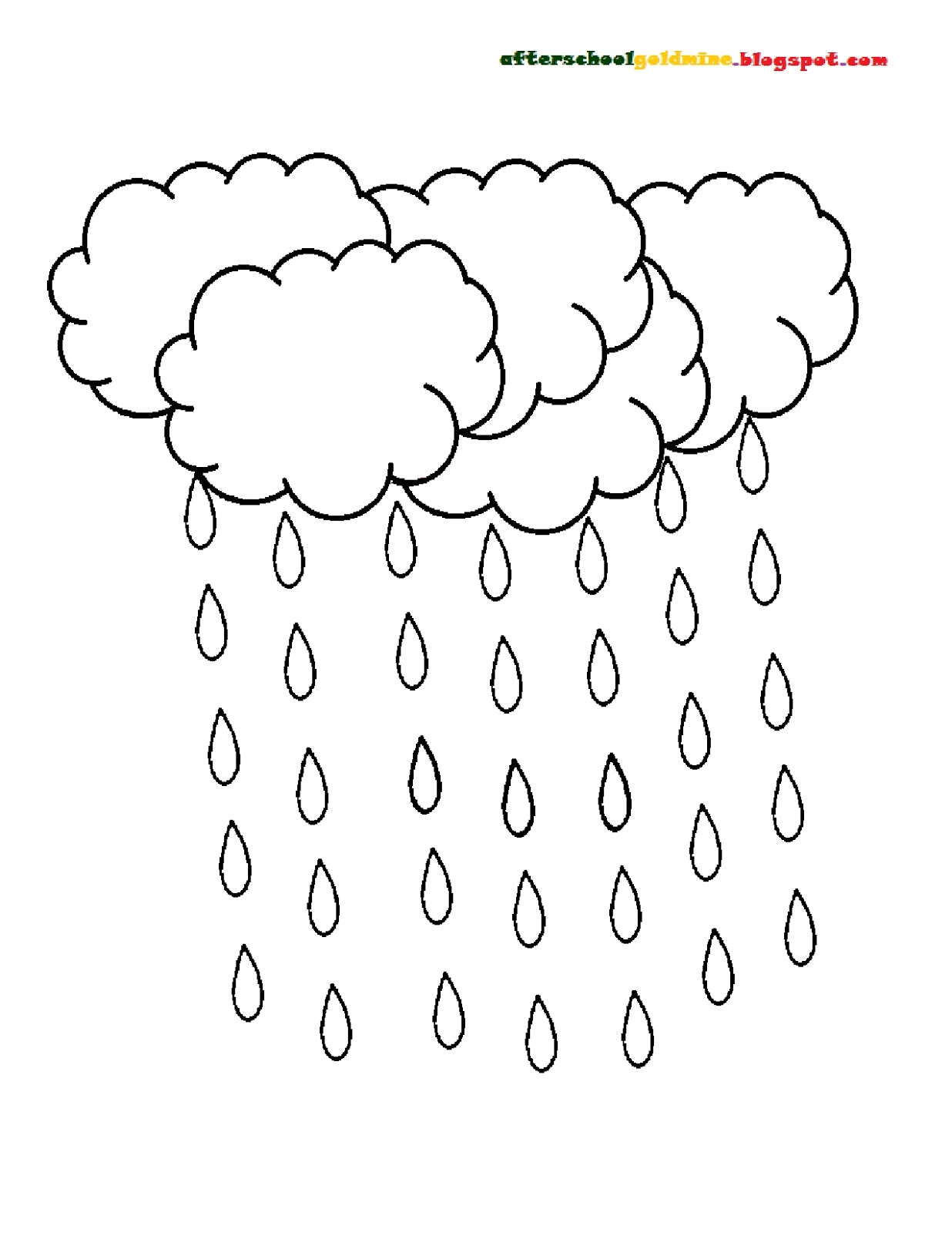 The Best Free Raindrop Coloring Page Images Download From