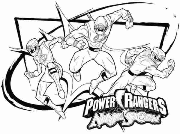 power rangers coloring page # 42