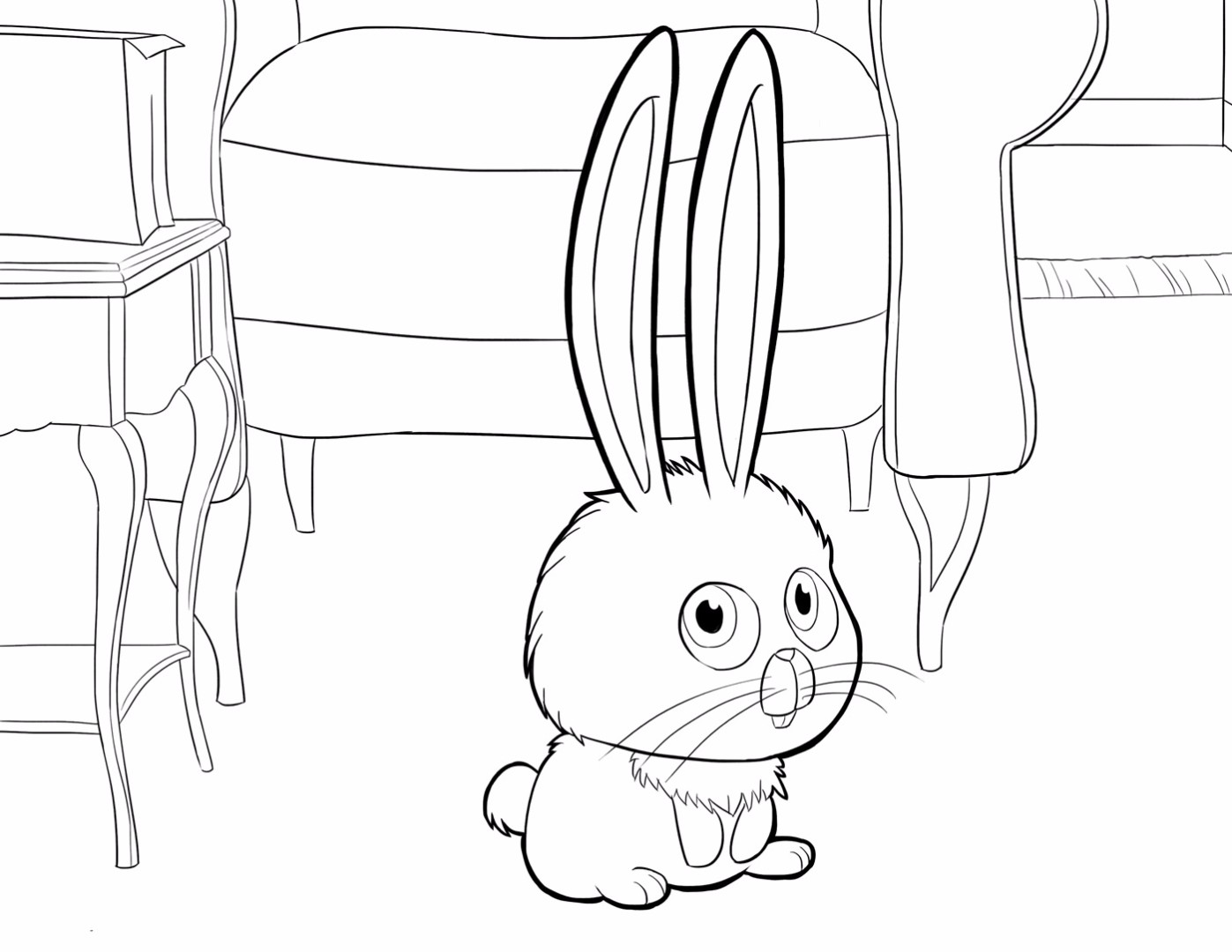 hight resolution of 1397x1080 the secret life of pets coloring pages