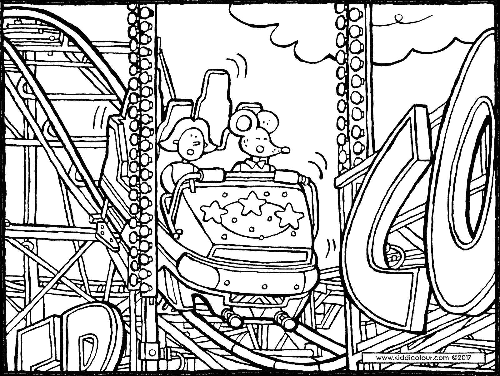 Roller Coaster Coloring Pages at GetDrawings Free download