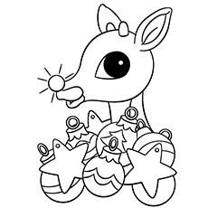 rudolph the red nosed reindeer coloring page # 27