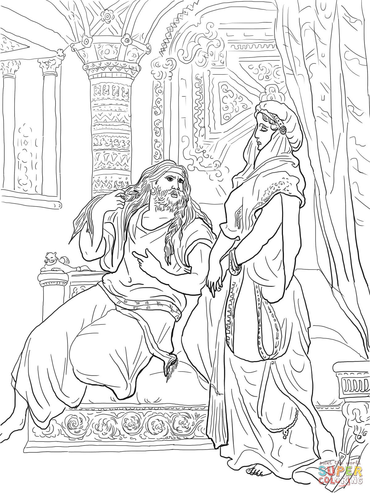Samson Coloring Pages For Preschoolers at GetDrawings