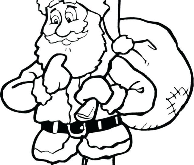 Santa Claus Coloring Pages Online At Getdrawings Free Download