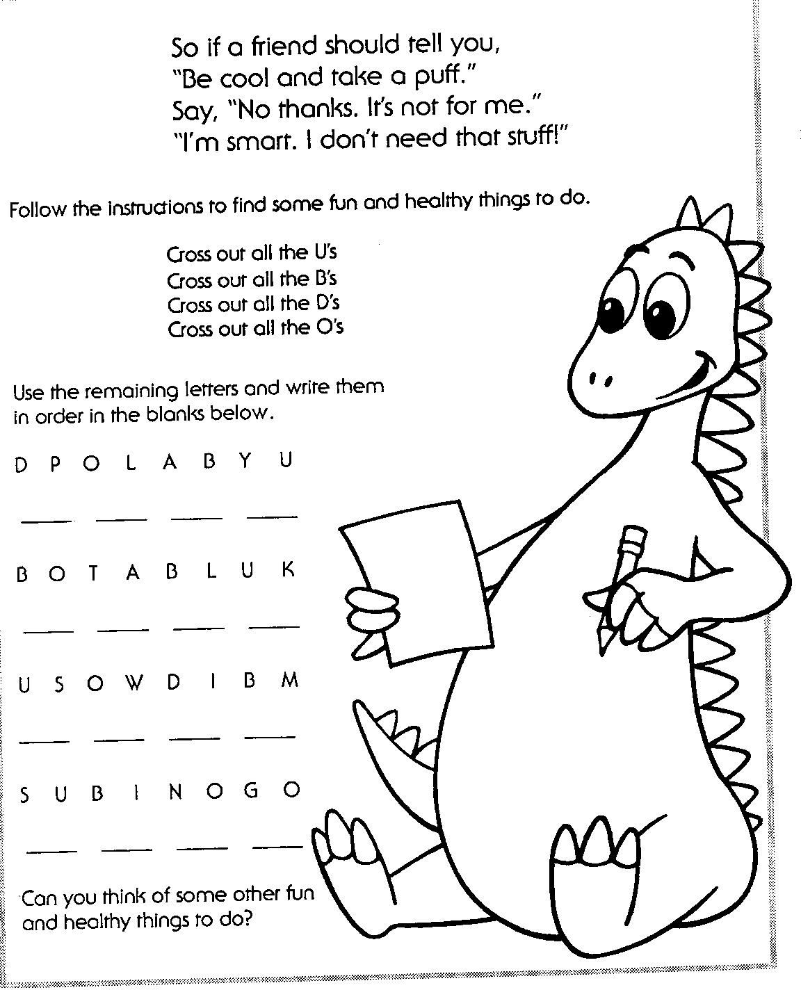 Say No To Drugs Coloring Pages At Getdrawings