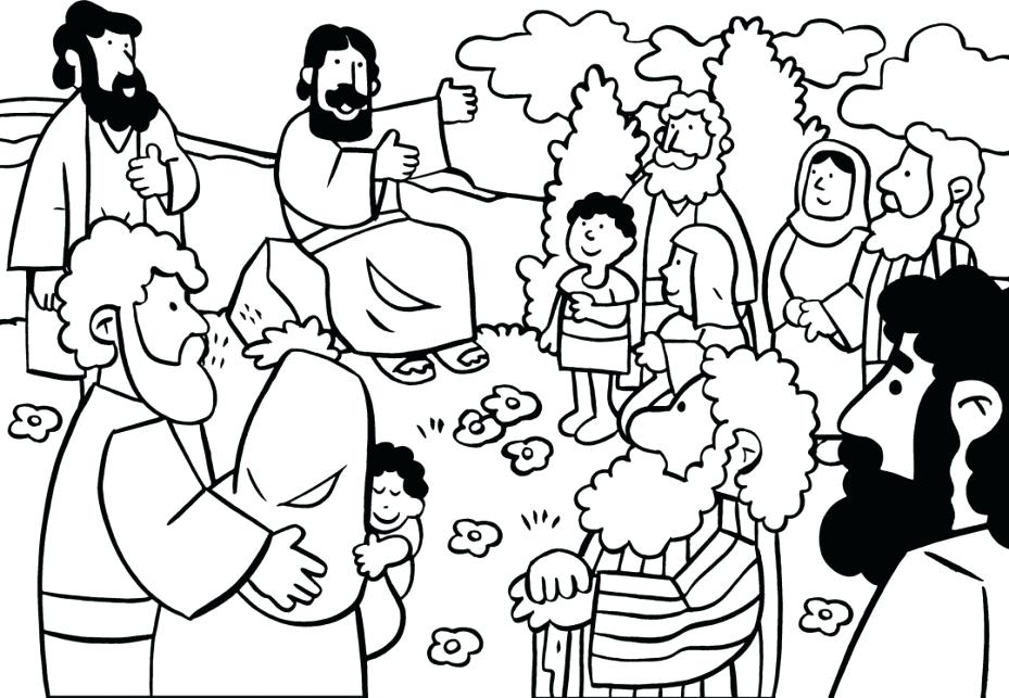 Sermon On The Mount Coloring Page at GetDrawings.com