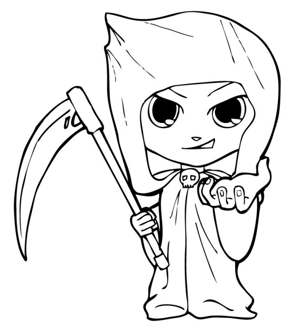 grim reaper coloring pages # 64