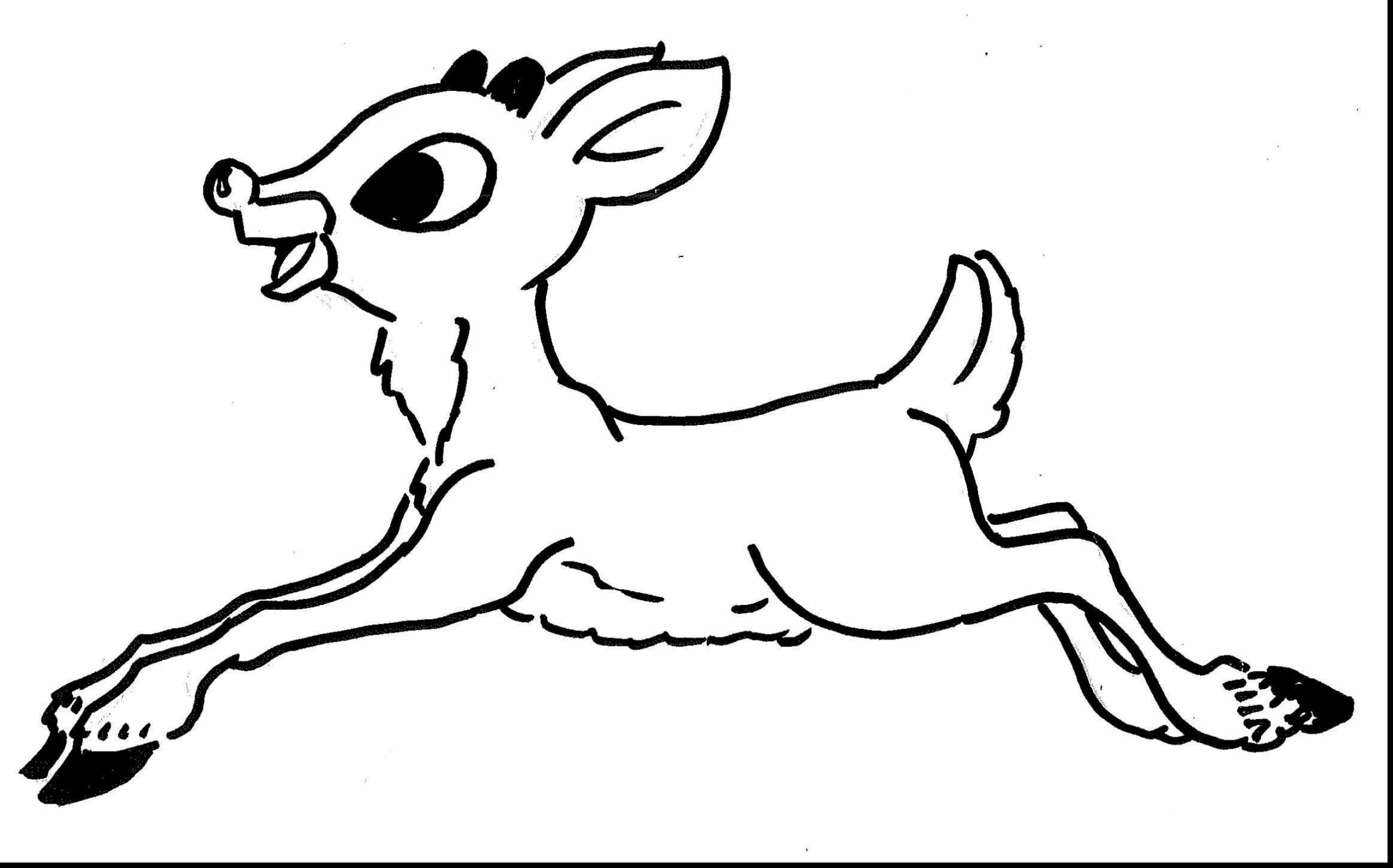 Sleigh And Reindeer Coloring Pages At Getdrawings