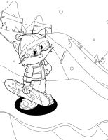 Snowboarding Coloring Pages at GetDrawings   Free download