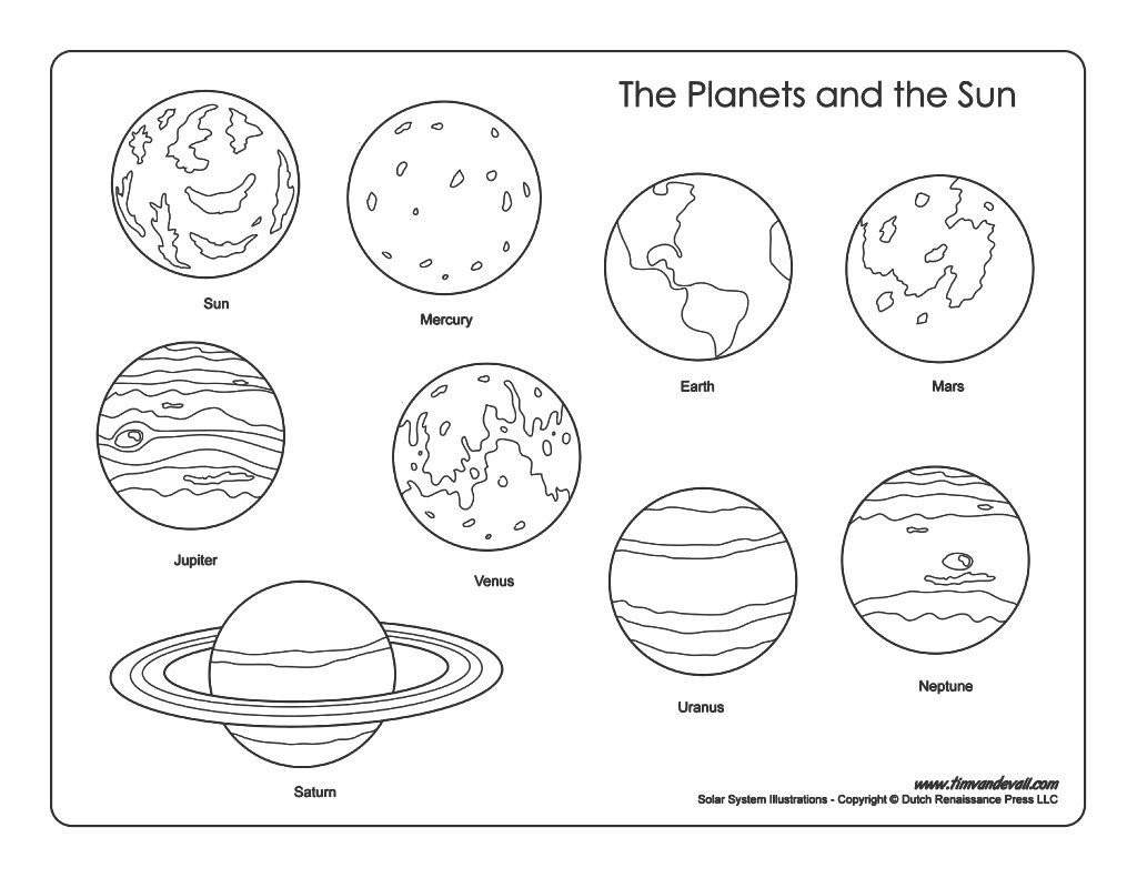 Solar System Coloring Pages Kindergarten At Getdrawings