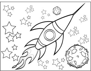 rocket ship coloring pages # 66