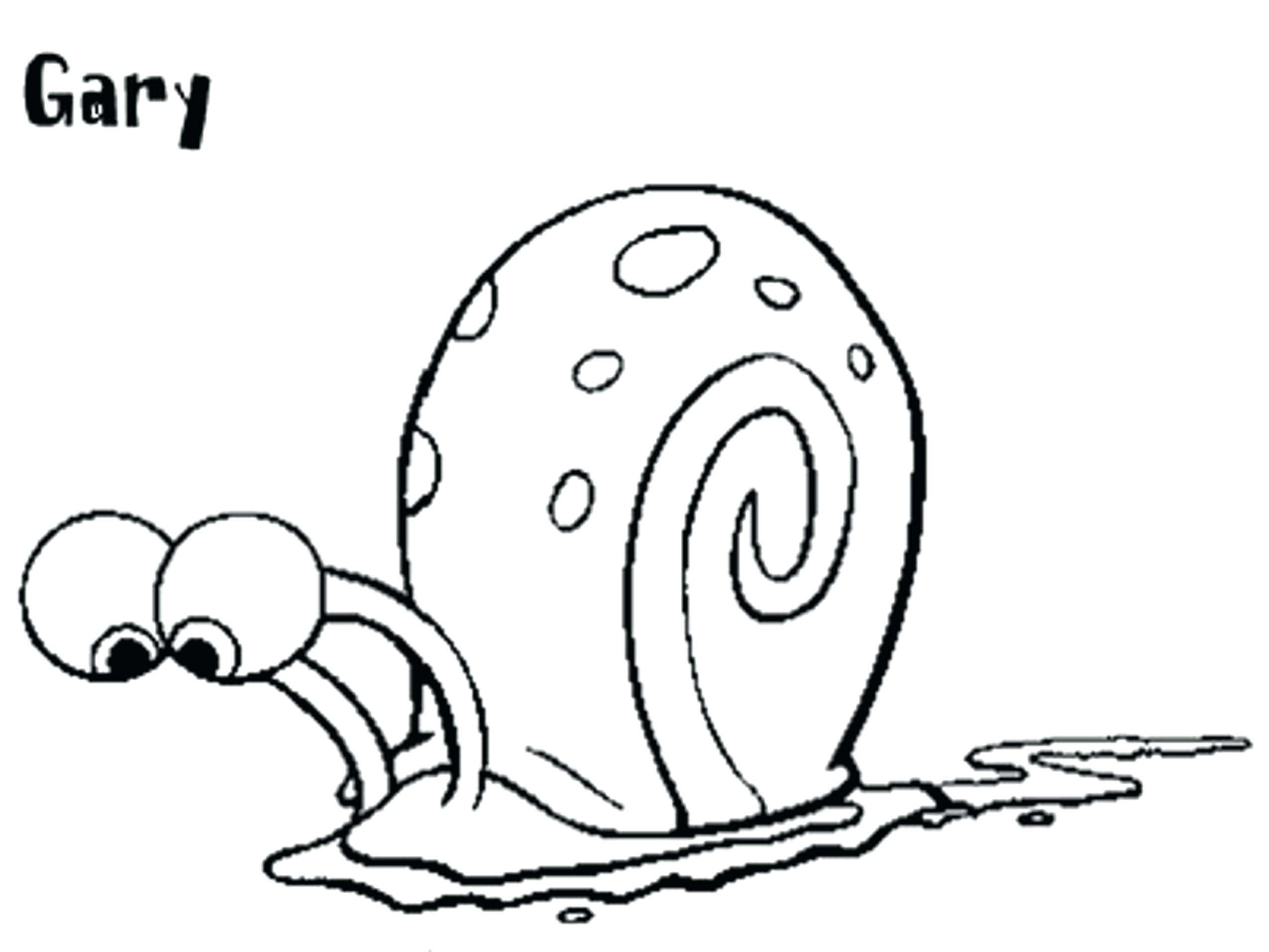 Commongorund Preschool Snail Coloring Page