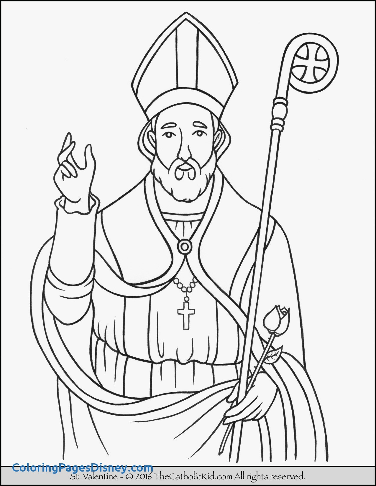 The Best Free Saint Coloring Page Images Download From