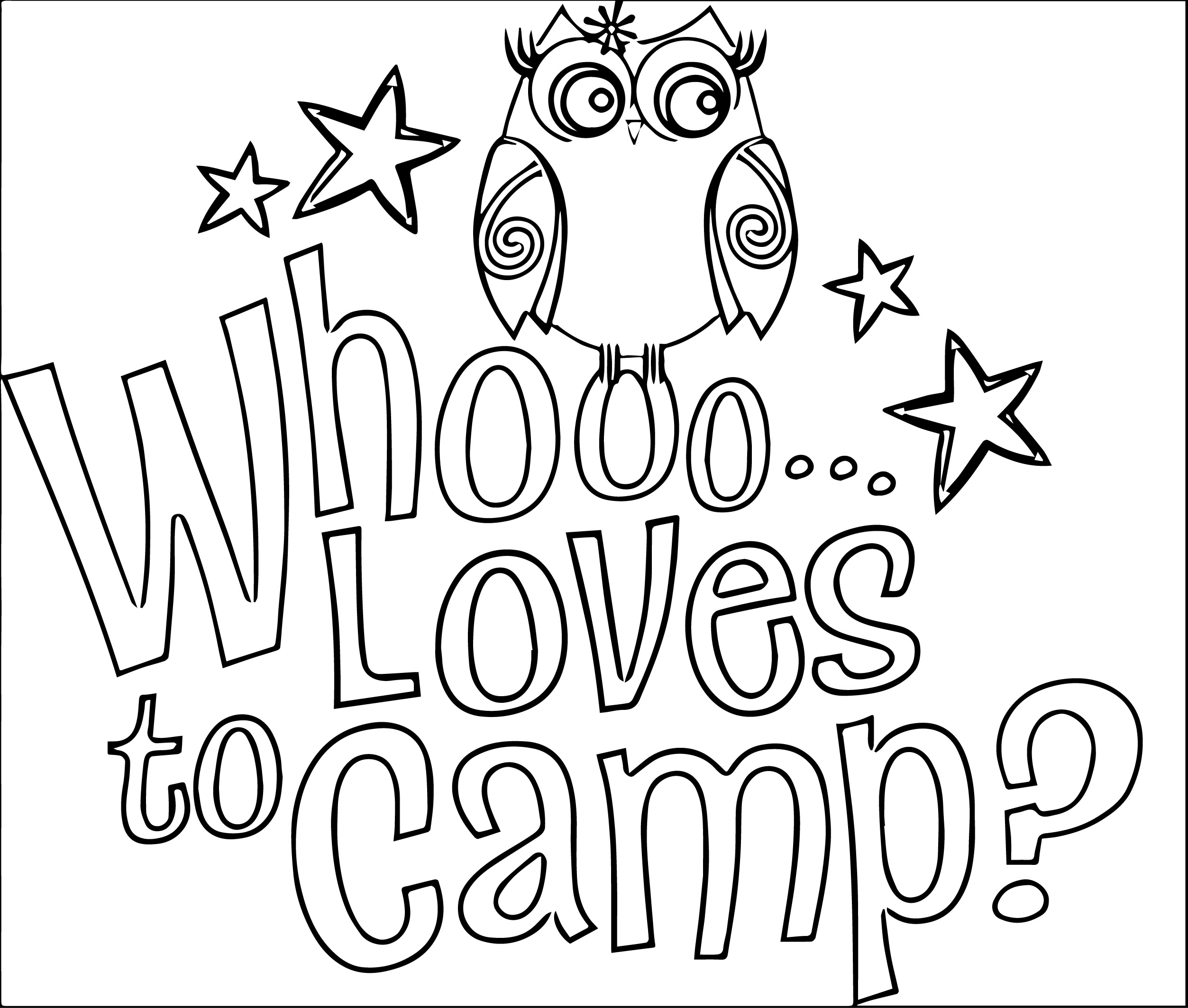 Summer Camp Coloring Pages At Getdrawings