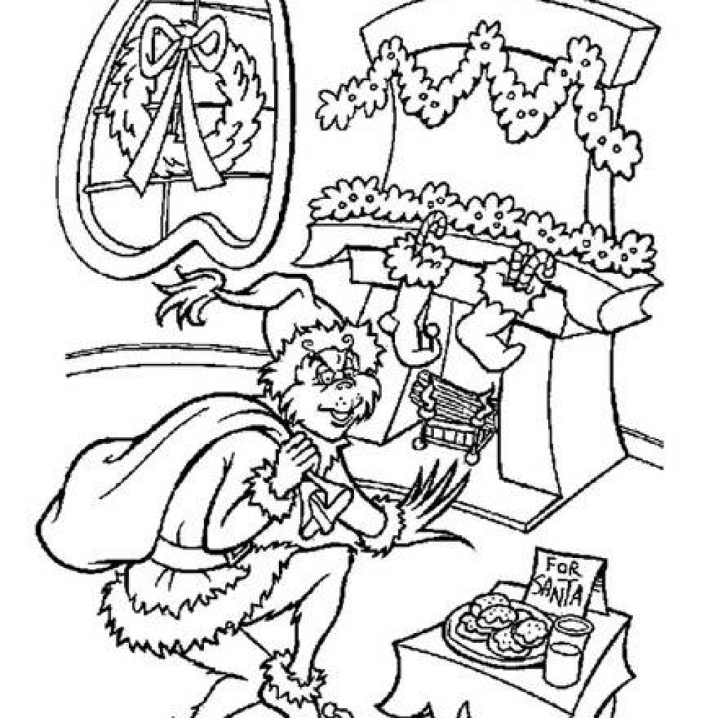 The Grinch Christmas Coloring Pages At Getdrawings