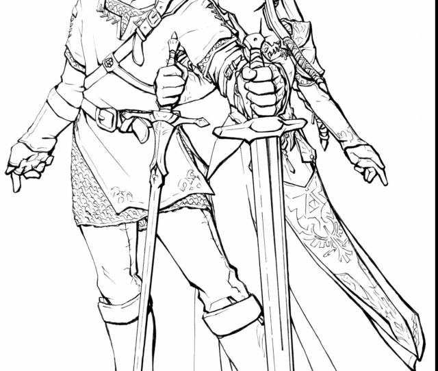 The Legend Of Zelda Coloring Pages Free At Getdrawings Free Download