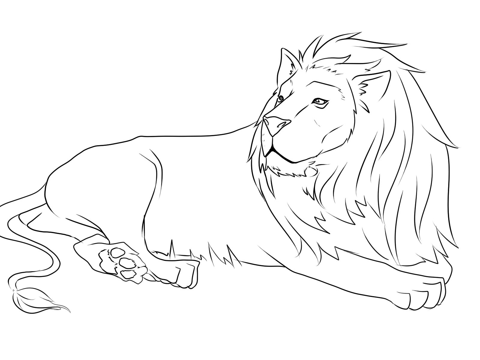 The Lion And The Mouse Coloring Page At Getdrawings