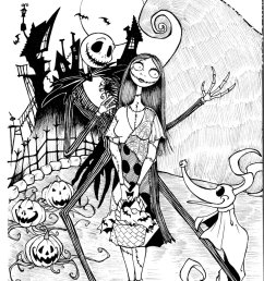 900x1240 free printable nightmare before christmas coloring pages best [ 900 x 1240 Pixel ]