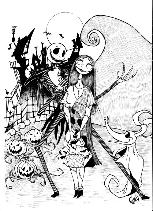small resolution of 900x1240 free printable nightmare before christmas coloring pages best