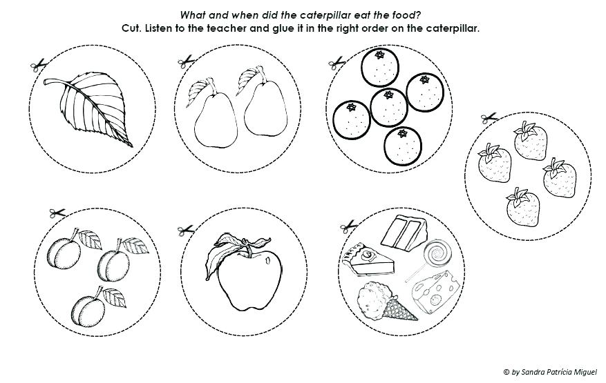The Very Hungry Caterpillar Printables Coloring Pages at