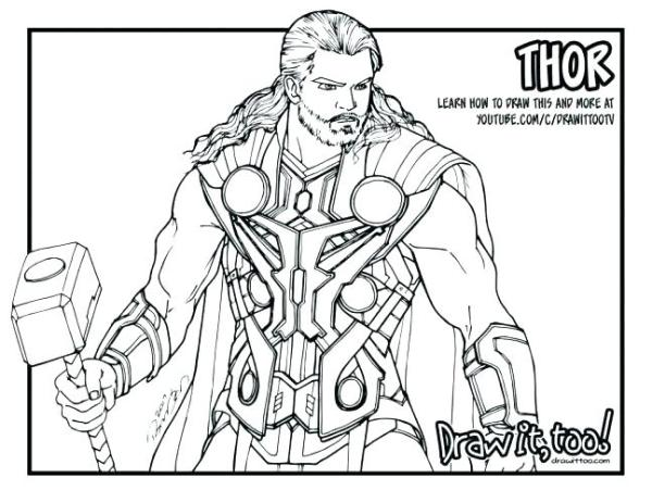 thor coloring page # 59